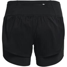 Under Armour Rush Run 2-i-1 shorts Damer, sort